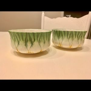 Pair of Hand Painted Vintage Dishes